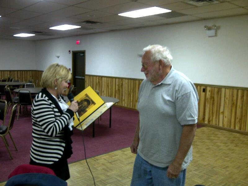 Senator Ward Presents Marty with Senatorial Citation